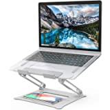 Laptop Stand, [Latest Upgraded 2020] Aluminum Computer Riser Multi-Angle Stand with Heat-Vent Portable Foldable Desktop Adjus