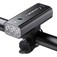 自転車 ライト 大容量5200mAh USB充電式 LEDヘッドライト「3in1機能搭載」 自転車ヘッドライト 高輝度I…