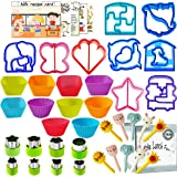 Sandwich Bread Cutters Shapes Set for Kids Vegetables Fruits Cheese Shapes Mold Supplies Crust Lunchbox and Bento Box