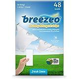Breezeo Laundry Detergent Strips (Laundry Detergent Sheets), Fresh Linen Scent, 48 Loads – More Convenient than Pods, Pacs, L