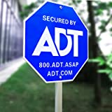 """SWEETFULL 28"""" ADT Sign,ADT Security Signs with 6 Double-Sided Stickers Metal Yard Sign with Stake ,Heavy Duty Weather Resista"""