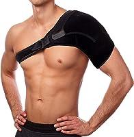 肩サポーター ショルダーサポート 肩関節 脱臼 肩こり 保護 肩痛補助ベルト付き 五十肩 四十肩 スポーツ 肩の痛み 冷え 肩コリ ストレッチ 安定 スキー 怪我予防 簡単装着 左右兼用