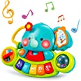 HOLA Baby Music Toys Elephant Piano Keyboard Learning Educational Toys for Infant 3 6 9 12 18 24 Months Light UP Baby Toys Gi