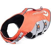 ThinkPet ペットライフジャケット 水泳用ライフジャケット 高密度 水遊び 浮力が優れる 犬の安全に守る