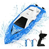 JJRC RC Boats Boat Toys for Pools and Lakes Remote Control Boats for Kids Adults 2.4Ghz Radio Controlled Boat Self Righting R