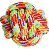 HOUZE Pet Toys Knotted Ball, Large, Red