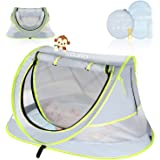 Portable Baby Tent, CCATTO Pop Up Beach Tent for Baby, Enhanced Ventilation, UPF 50+ Sun Shelter for Infant, Baby Camping Bed