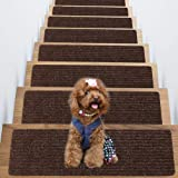 Non-Slip Carpet Stair Treads, Set of 15 Indoor Skid and Slip Resistant Mats, Rug Non Skid for Grip, Safety Slip Resistant for
