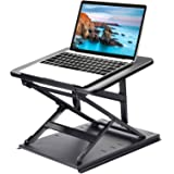 HUANUO Adjustable Laptop Stand for Desk - Easy to Sit or Stand with 9 Adjustable Angles, Laptop Riser Reduces Neck Pain, Fits