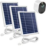Uogw 3 Pack Solar Panel Charge for Arlo Ultra/Ultra 2 /Arlo Pro 3/Pro 4,with 11.5ft Waterproof Magnetic Power Cable, Adjustab