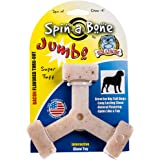 Bullibone Jumbo Spin-a-Bone- Bacon Flavor Nylon Dog Chew Toy Aggressive Chewers, Triggers Natural Instincts Improves Oral Hea