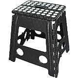 Portable Flat Folding Step Stool Ladder Non Slip Caravan Camping Seat Chair 22/39CM (M/H 39cm x W 29cm x D 22cm)