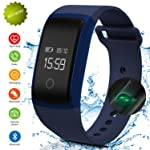 Fitness Tracker,IP67 Waterproof Sports Smart Wristband with Blood Oxygen Monitor/Blood Pressure/Heart Rate Monitor for...