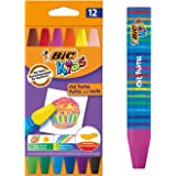 BIC 926446 Kids Oil Pastel Crayons - Assorted Colours, Pack of 12
