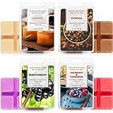LA BELLEFÉE Scented Wax Cubes,Wax Melts, Food Scented Wax Melts, Natural Soy Wax Cubes, for Warmer(4x2.5oz, Caramel, Espresso