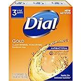 Dial Antibacterial Deodorant Bar Soap, 4oz each, Pack of 3 Gold Bars