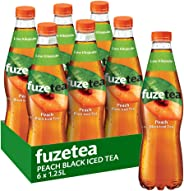 Fuze Peach Black Iced Tea Bottle, 6 x 1.25 l