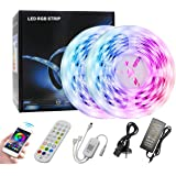 DDS-DUDES Bluetooth LED Strip Lights 20M with Remote, Smartphone APP Control Music Sync 600leds SMD 5050 RGB Led Light Strips