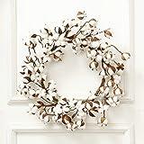 60cm Real Cotton Wreath Farmhouse Decor Christmas Vintage Wreath