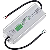 LED Driver 120 Watts Waterproof IP67 Power Supply Transformer Adapter 100V-260V AC to 12V DC Low Voltage Output for LED Light