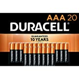 Duracell - CopperTop AAA Alkaline Batteries - long lasting, all-purpose Triple A battery for household and business - 20 Coun