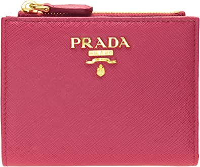 (プラダ) PRADA 財布 折財布 二つ折り レザー サフィアーノ ミニ コンパクト 1ML023 (ピオニアピンク) [並行輸入品]
