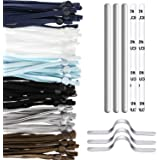 GIYOMI Extra Long 10 inch/26 cm Sewing Elastic Bands with Adjustable Buckle, 60 Pcs Soft Elastic Cord for DIY Crafts Sewing,a