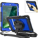 TzoMartico iPad Pro 9.7 Case, 360 Degrees Rotate Hand Controlling Case with Built-in Stand Screen Protector, Full-Body Shock