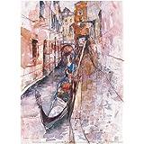 【蔡國華 Cai guo-hua 絵画「ベネツィアの休日」】アートクリアファイル A4サイズ【アートスペース画空間】