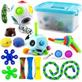 AKILION Fidget Pack, Sensory Fidget Toys Pack with Storage Box, Stress Relief and Anti-Anxiety Fidget Set for Kids & Adults,
