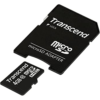Transcend microSDHCカード 4GB Class10 TS4GUSDHC10