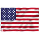 Anley Fly Breeze 3x5 Foot American US Polyester Flag - Vivid Color and UV Fade Resistant - Canvas Header and Double Stitched