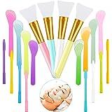 Silicone Stir Sticks Set 4 Pieces Silicone Epoxy Brushes Silicone Makeup Brush 8 Pieces Reusable Silicone Stirring Rods 8 Pie