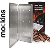 Mockins Stainless Steel BBQ Smoker Box for Grilling Barbecue Wood Chips On Gas Grill or Charcoal Grill - Grilling Accessories
