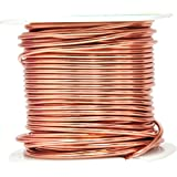 Mandala Crafts 12 14 16 18 20 22 Gauge Anodized Jewelry Making Beading Floral Colored Aluminum Craft Wire (14 Gauge, Copper)