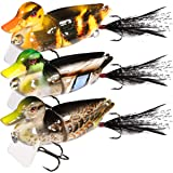 TRUSCEND Fishing Lures for Bass Trout Multi Jointed Swimbaits Slow Sinking Bionic Swimming Lures Bass Freshwater Saltwater Ba