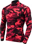 Tesla Men's Long Sleeve T-Shirt Baselayer Cool Dry Compression Top Round Neck MUD11 / Mock Neck MUT12 MUT72 MUT74