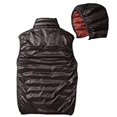EB900 Fill Power Plus Reversible Down Hooded Vest 019240: Pimento / Cocoa