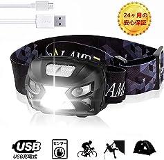 SEDETER LEDヘッドランプ USB充電式ヘッドライト センサー 高輝度 防水軽量 登山/サイクリング/夜釣り/屋 外の緊急照明用ヘッドランプに使用されます ジェスチャーセンシングヘッドライト