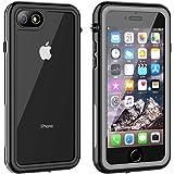 iPhone SE ケース [第2世代] /iPhone8 ケース iPhone7 ケース 防水ケース 耐衝撃ケース 4.7インチ対応 360°全方向保護 米軍MIL規格取得 フェイスID認証 Qi充電対応 超軽量 塵 キズ·落下防止 高耐久ケース