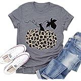 Bibbidi Bobbidi Boo Shirt Women Funny Cute Halloween Pumpkin Graphic Tees Letter Print Fall Vacation Tops T-Shirt