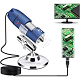 Jiusion 2K HD 2560x1440P USB Digital Microscope for Android Cellphone and Tablet Windows Mac Linux, 40X to 1000X Magnificatio