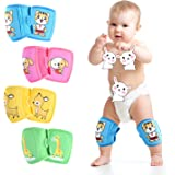 ZukoCert Adjustable Baby/Toddler Knee Pads(4 pieces) Crawling Knee Pads (Unisex) Breathable Non-slip Kids Knee Pads