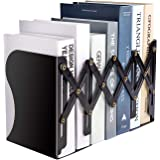 MDHAND Adjustable Bookend,Expandable Magazine File Organizer Holders for Desk, Shelf, Office, Stationery, Extends up to 19 in