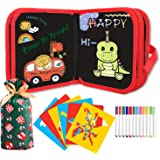 HighFun Erasable Drawing Pad Road Trip Activities Car Travel Airplane Activities Game for Kids Toddlers Ages 2 3 4 5 6 7 8 an