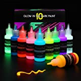 Magicfly Glow in The Dark Paint, 10 Colors