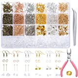 PP OPOUNT 2463 Pieces Earring Making Supplies Kit with Earring Hooks, Jump Rings, Earring Post, Pliers, Tweezers, Jump Ring O