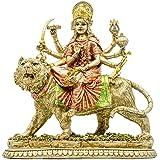 Hindu Goddess Durga Statue - Indian God India Murti Idol Figurine- Home Temple Puja Sculpture - Durga On Tiger Figurines - Du