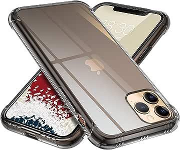【ONES】 iPhone 11 Pro Max ケース 半透明·黒 米軍MIL規格〔耐衝撃、レンズ保護、滑り止め、軽い、黄ばみなし〕『エアクッション技術、半密閉音室、Qi充電』高級感 Airシリーズ