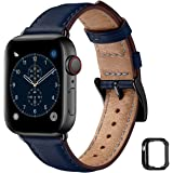 MNBVCXZ コンパチブル apple watch バンド 44mm 42mm 40mm 38mmに対応,apple watch バンド 本革 レザー,交換用アップルウォッチバンド コンパチブル ベルト互換性のある Apple Watch SE,